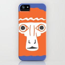 Monkey face iPhone Case