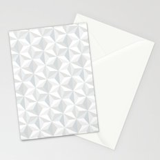White geometry Stationery Cards