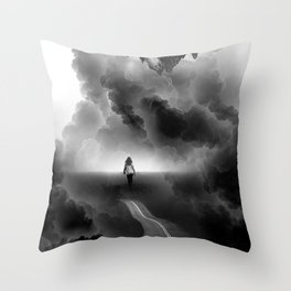 Call me Home a Black and White Collage Throw Pillow
