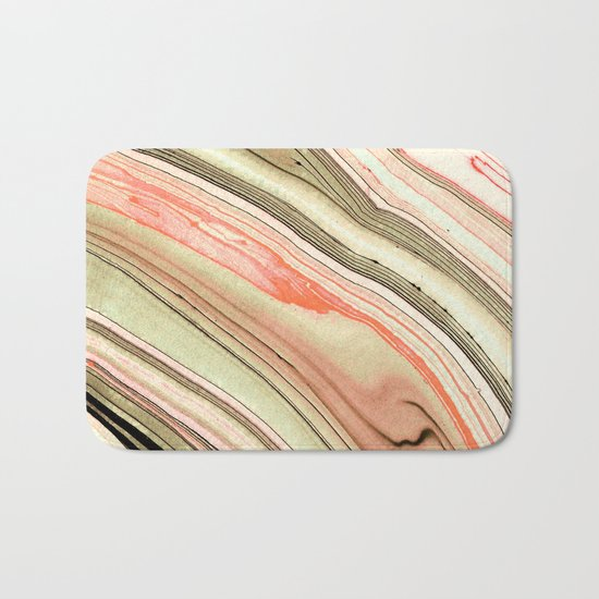 Watercolor strokes on wood Bath Mat