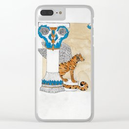 Antique Tiger Clear iPhone Case