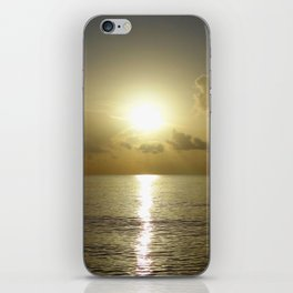 seaside sunrise iPhone Skin