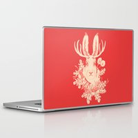 jackalope Laptop & iPad Skins featuring Jackalope Tattoo by jackalopebuddy