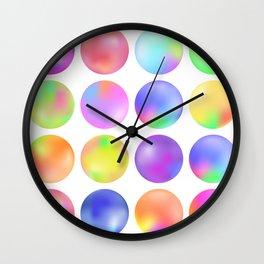 Colorful fluid bubbles Wall Clock