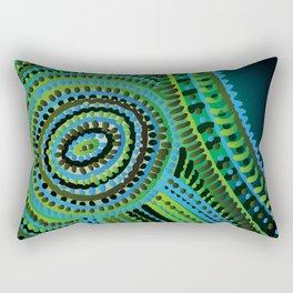 turquoise circus Rectangular Pillow