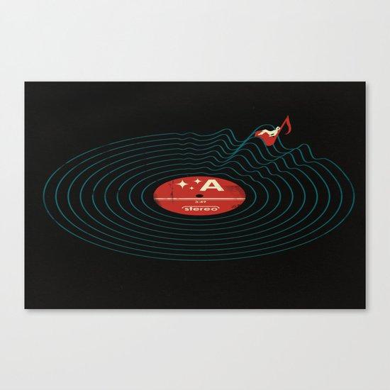 Soundwaves Canvas Print