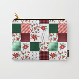 Plaid quilt pattern outdoors nature forest christmas holidays gifts Carry-All Pouch
