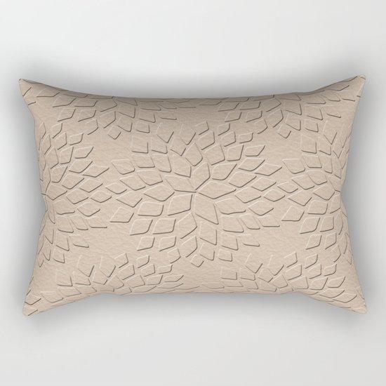 Leather Look Petal Pattern - Pale Dogwood Color Rectangular Pillow