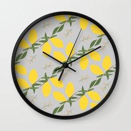 Sunny Lemon Yellow Wall Clock