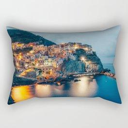 Manarola village at Night Rectangular Pillow