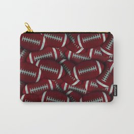 Football Field of Red Footballs Carry-All Pouch