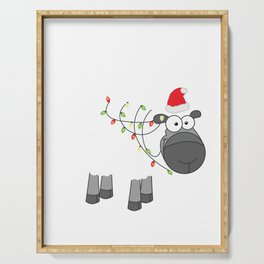 Fleece Navidad - Feliz - Christmas Serving Tray