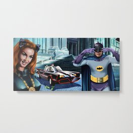 Julie Newmar and Adam West 1966 Metal Print