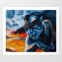 avatar Art Prints featuring Avatar by RabbleAlliance