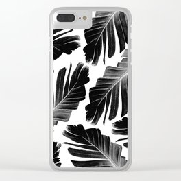 Tropical Black Banana Leaves Dream #1 #decor #art #society6 Clear iPhone Case