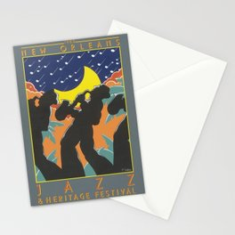 1980 New Orleans Jazz Festival Advertising Gig Poster Stationery Cards