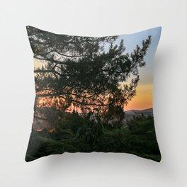 Sunset in Idaho Throw Pillow
