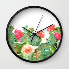 scratched cactus Wall Clock