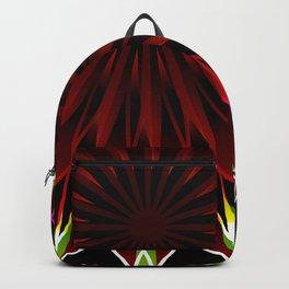 Neon flower mandala Backpack