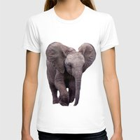 baby elephant T-shirts featuring Baby Elephant by Erika Kaisersot