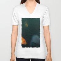underwater V-neck T-shirts featuring Underwater by Filip Radulescu