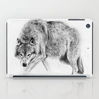 wolf iPad Cases featuring Wolf by Anna Shell