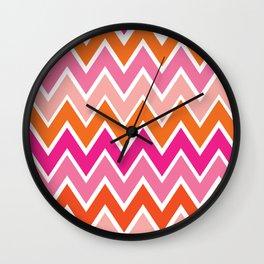 Retro Rainbow Wall Clock