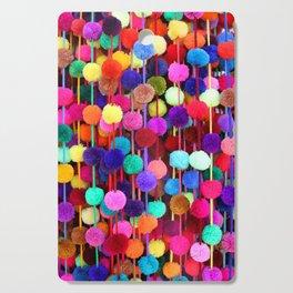 Rainbow Pom-poms (Vertical) Cutting Board