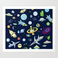 Galaxy Adventure Art Print
