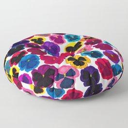 Plentiful pansies Floor Pillow