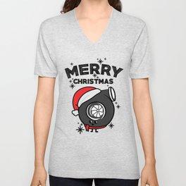 Christmas turbo Unisex V-Neck