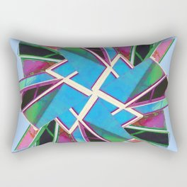 Window Of Opportunity Abstract Blue 2 Rectangular Pillow
