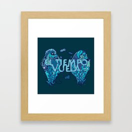 El Tiempo Vuela Framed Art Print