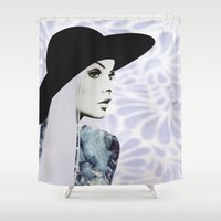 silver Shower Curtains featuring Silver by EISENHART