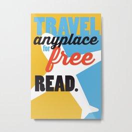 Travel - Just Read Metal Print