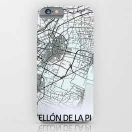 Castellón de la Plana, Spain, White, City, Map iPhone Case