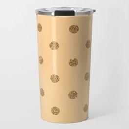 Burly Wood1 Gold Glitter Dot Pattern Travel Mug