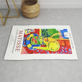 Henri Matisse, Le Chat Aux Poissons Rouges 1914 Exhibition Poster, (The Cat With Red Fishes), Artwork, Men, Women, Youth Rug
