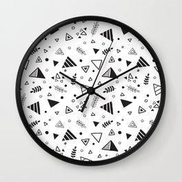 Organic Triangles Wall Clock