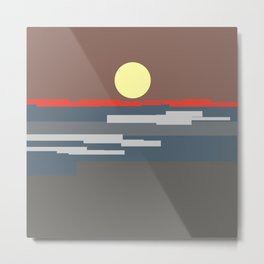 Vermillion Metal Print