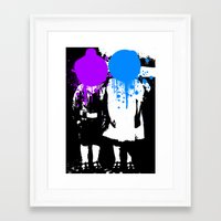 psychology Framed Art Prints featuring Twin Psychology by DB & Co.