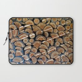 FIREWOOD WAITING IN THE WOODSHED Laptop Sleeve