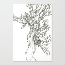 I grew this so you would visit. Canvas Print