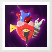 Cursed Heart Art Print