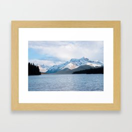 Snow Covered Mountain Photography Print Framed Art Print