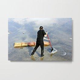 Sweeping Water Metal Print