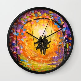 Eternal love Wall Clock