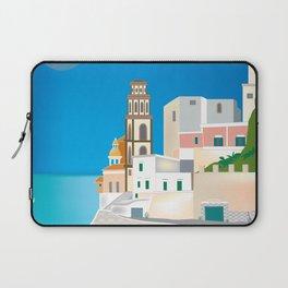 Amalfi Coast, Italy - Skyline Illustration by Loose Petals Laptop Sleeve