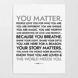 You Matter Poster Poster