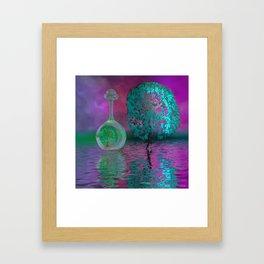 strange world - strange colors Framed Art Print